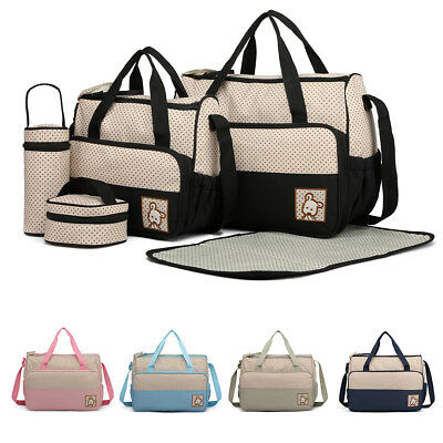 5pcs/4pcs Maternity Bag Baby Changing Bag  Nappy Diaper Mummy Backpack 2