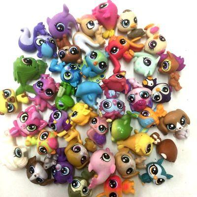"Random 20Pcs Littlest pet shop LPS Animal pet dog Figure toy (10x 1"" +10x 0.5"" ) 2"