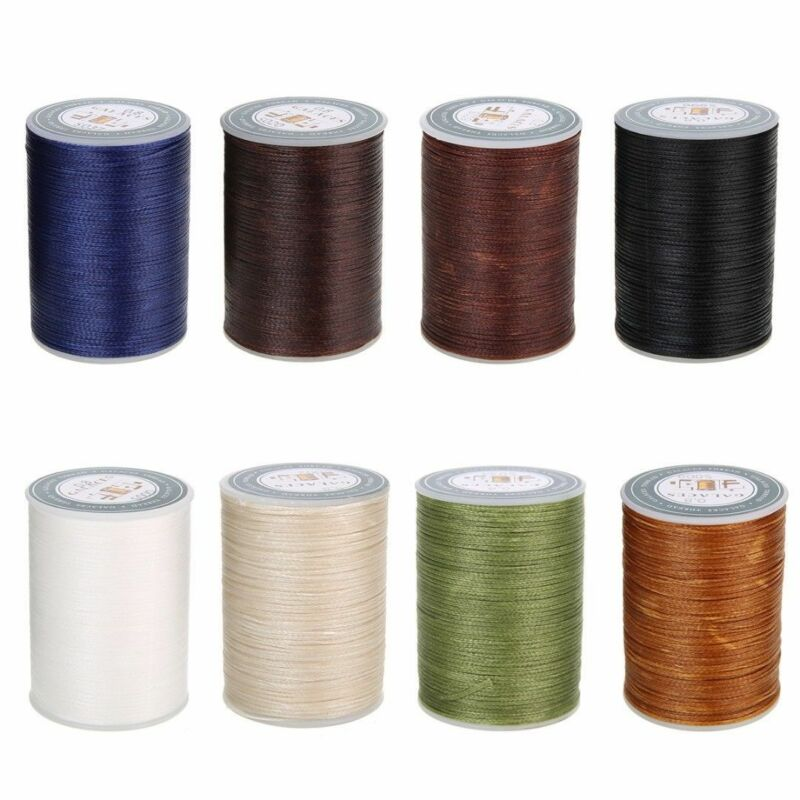 Waxed Thread 0.8mm 90m Polyester Cord Sewing Machine Stitching For Leather Craft 3
