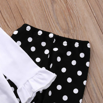 Toddler Kids Girls Christmas Snowman Olaf Tops Dot Pants Outfits Set Clothes 10