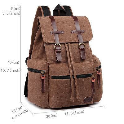 Unisex Canvas Backpack Tourist Camping Mountaineering Hiking Rucksack
