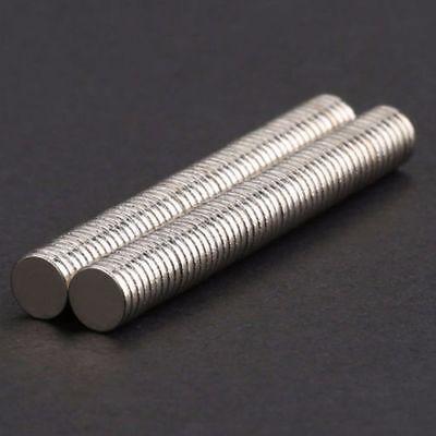100stk Neodym Magnete 5x1mm Round Scheibe Magneten Minimagnete Büro Pinnwand N52 3