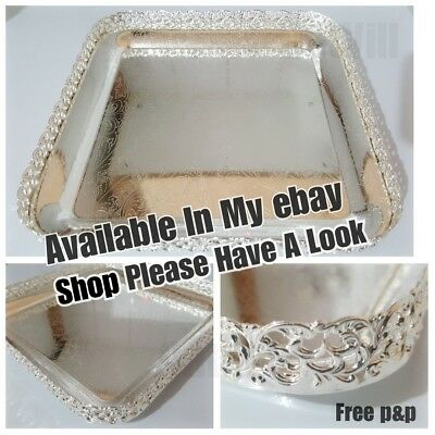 Silver Plated Indian Round Gallery Tray Plate Paandan Paan Leaf Tea Tray Biscuit 3