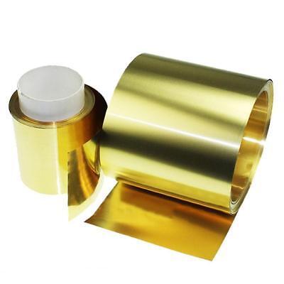 US Stock 0.1mm x 200mm x 1000mm H62 Brass Metal Thin Sheet Foil Plate Roll