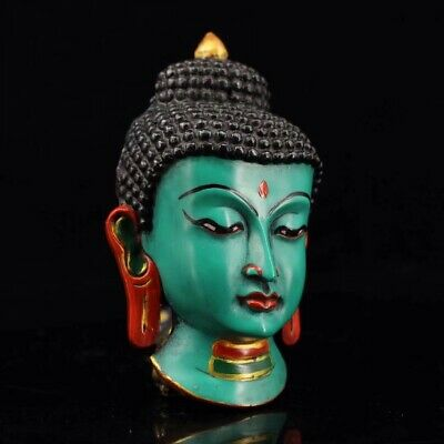 Chinese Tibetan temple collection painting Sakyamuni mask Home decoration 5