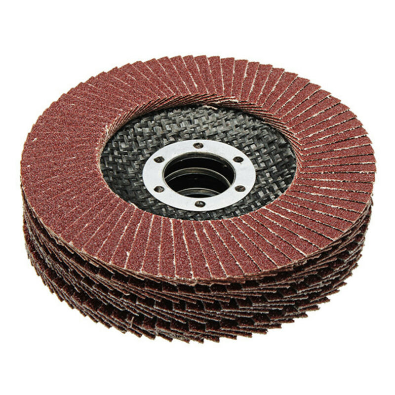 50pcs Abrasive 5''125MM Metal Sanding Flap Disc Angle Grinder 40 Grit AU Stock 8
