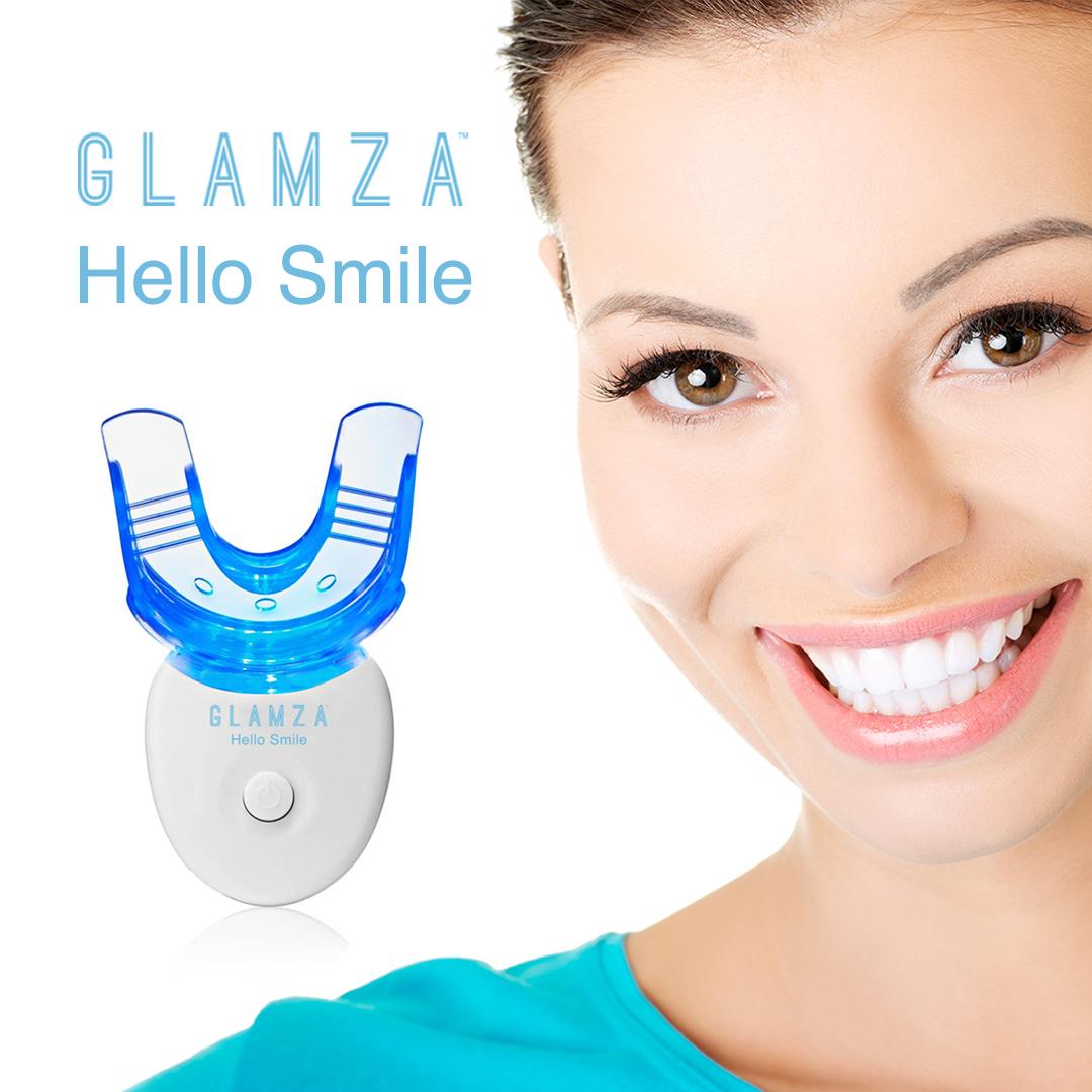 Teeth Whitening Kit LED Laser Light Mouth Tray Smile Dental Gel Hi Tooth White 3