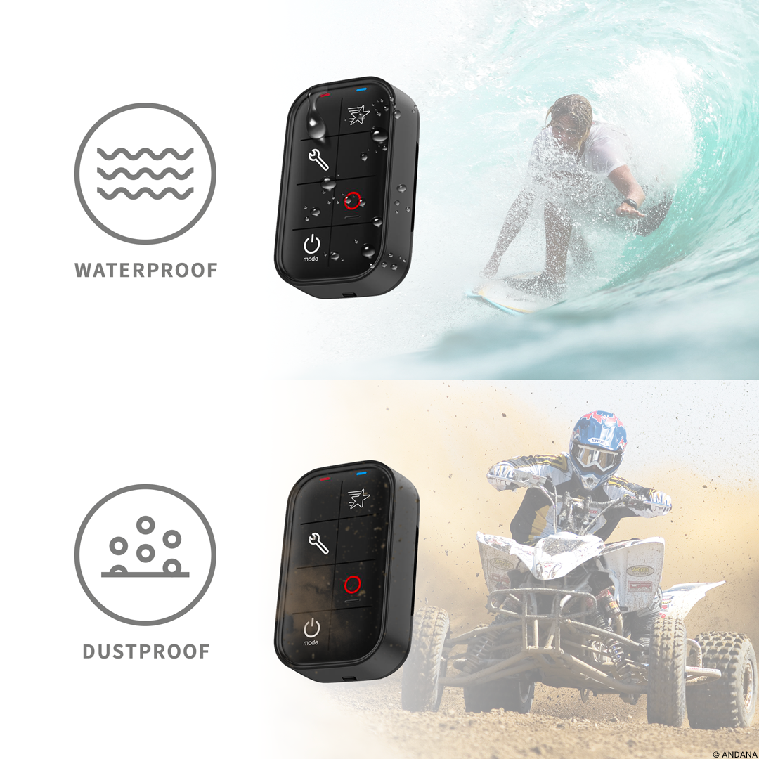 Waterproof Wearable Smart Remote for GoPro 8/7/6/5/4/3+ & Session cameras 4