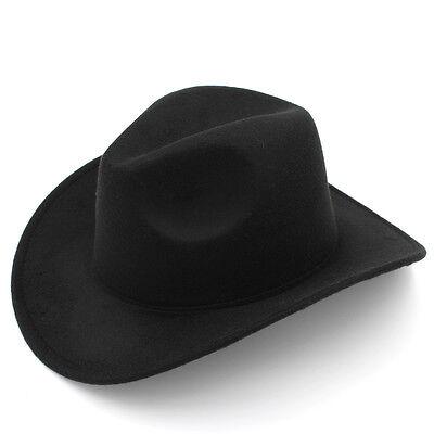 ... Kids Boys Girls Felt Cowboy Hat Wool Blend Children Western Cowgirl Cap  Size XS 2 e7ec9b2b082