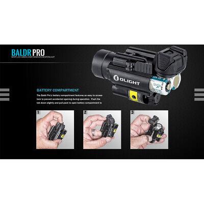 Olight Baldr Pro 1350 Lumen Pistol Flashlight with Green Laser Sight (Tan) 4