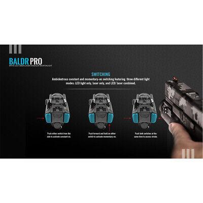 Olight Baldr Pro 1350 Lumen Pistol Flashlight with Green Laser Sight (Tan) 5
