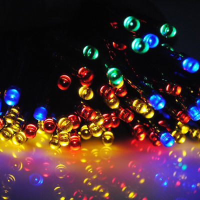 12M 100 LED Solar Power Fairy Light String Lamp Party Xmas Decor Outdoor RF 6