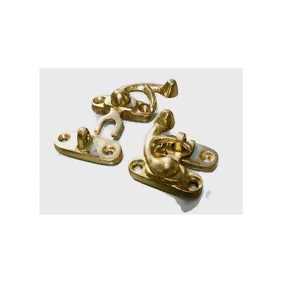 8 Nice tiny small box Latch catch solid brass POLISHED 3cm doors trinket B 6