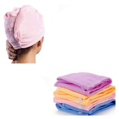 Microfibre Hair Drying Bath Towel Cloth Shower Wrap Magic Turban Cap Women Dry 2
