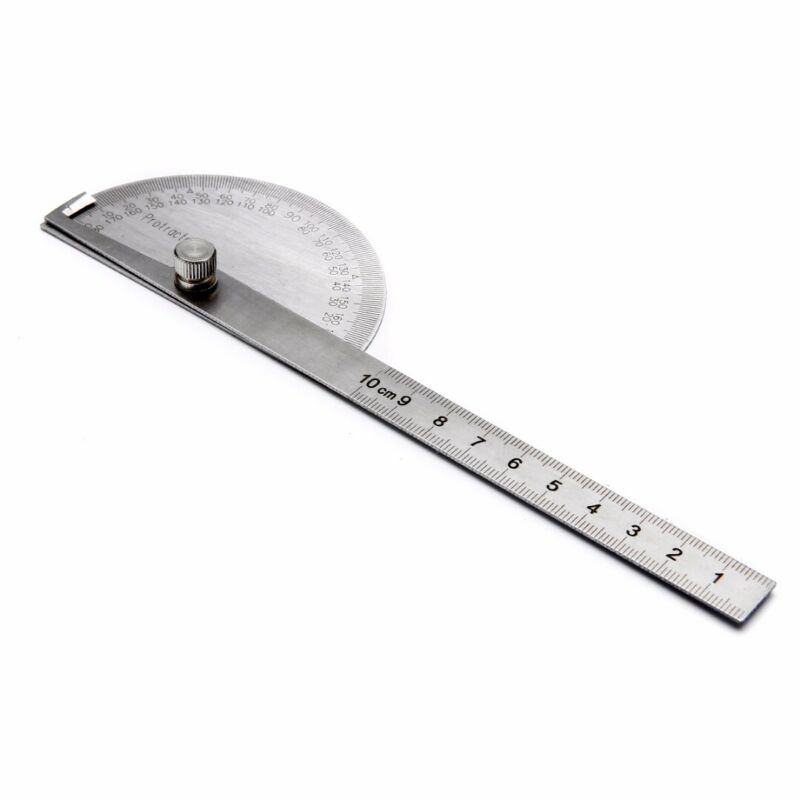 Steel degree Stainless Finder 180 Protractor Angle Arm Measuring Ruler Tool 4