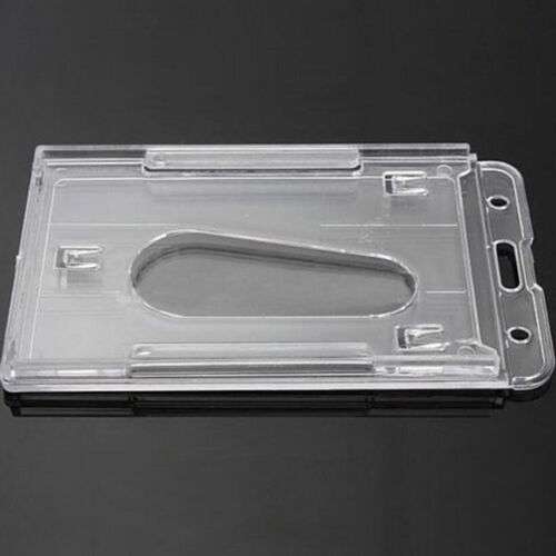 5x Plastic Badge ID Holder Double Side Card Vertical Hard Multi Transparent AU 9