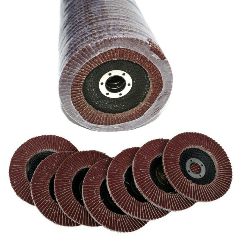 50pcs Abrasive 5''125MM Metal Sanding Flap Disc Angle Grinder 40 Grit AU Stock 12