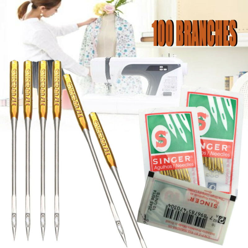 100 Pcs/Pack Domestic Sewing Machine Needles 9 11 14 16 18 Singer 2020 HAX1 705H 2