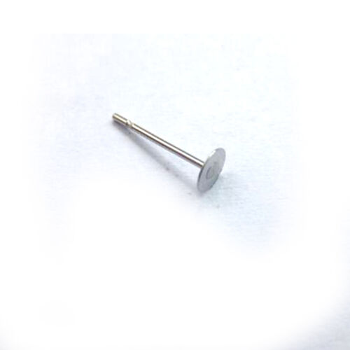 400pcs Earring Stud Posts 8mm Pads and backs Hypoallergenic Surgical Steel AU 8