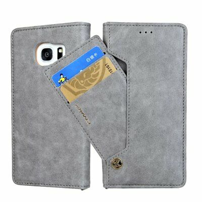 Luxury Card Slot Stand Flip Leather Wallet Case Cover For Samsung S7 Edge S8 + 2