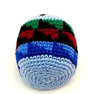 Hacky Sack Boota Bag Crochet Footbag Guatemalan New Blue Multi Color