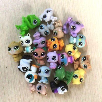 random 10Pcs Littlest Pet Shop panda bear dog cat pet super mini figure toy gift 3