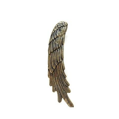 """2 ANGEL WINGS14"""" hollow brass door PULL Polished wings PULL handle 36 cm B 8"""