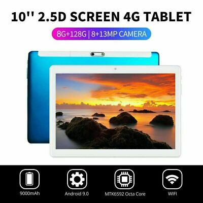 """10.1"""" WIFI/4G-LTE 8G+128G Tablet Android 9.0 HD PC bluetooth SIM GPS Dual Camera 9"""