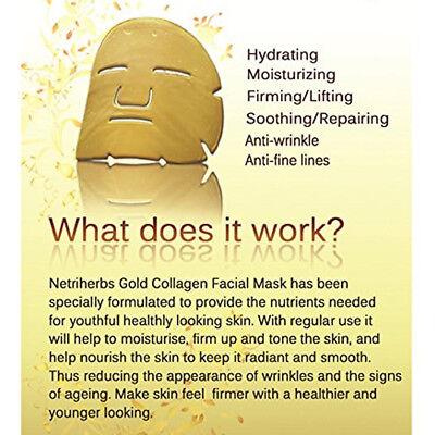 Premium Collagen Crystal Face Masks Anti Ageing Skin Care Gold White x5 x10 x50 9