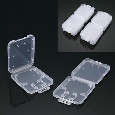 10X SD SDHC Memory Card Cases Holder Box Storage Hard Plastic Transparent Holder 2