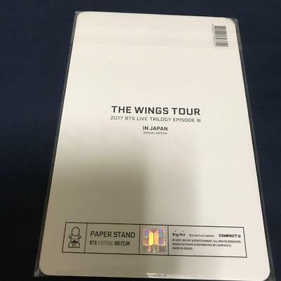 BTS Bangtan JIMIN TRILOGY EPISODE Ⅲ WINGS TOUR JAPAN Official Paper Stand 2