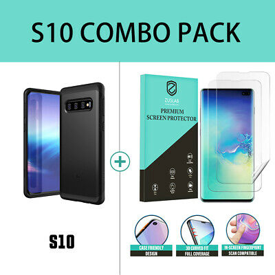Samsung Galaxy S10 case S10 Plus Case ZUSLAB Hybrid Shield Shockproof Slim Cover 11