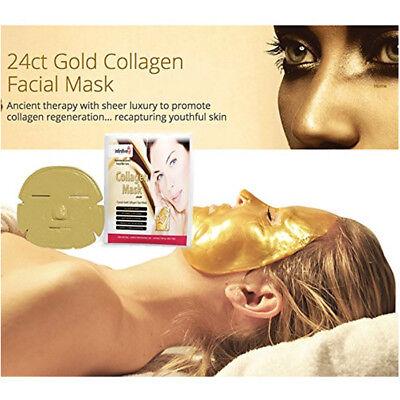 Premium Collagen Crystal Face Masks Anti Ageing Skin Care Gold White x5 x10 x50 8