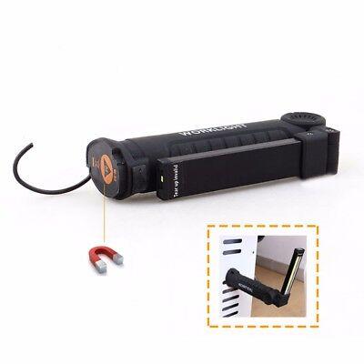1/2Pcs COB LED Rechargeable Work Light Magnet Flashlight w/ Hook Fold Torch Lamp 3