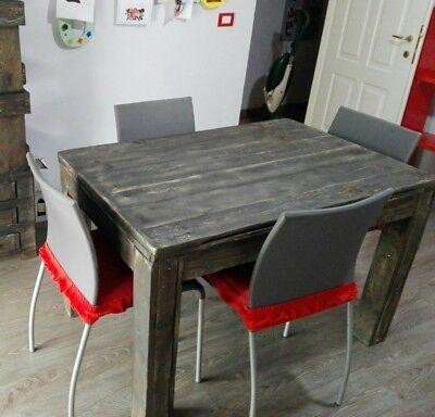 Tavolo In Legno Massello Realizzato Con Recupero Bancali 120x80 Eur 282 95 Picclick It