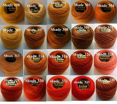 1 ANCHOR Pearl Cotton 8 Crochet Embroidery Thread Ball 1 Flat/Free Postage on 10 6