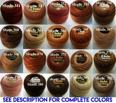 1 ANCHOR Pearl Cotton 8 Crochet Embroidery Thread Ball 1 Flat/Free Postage on 10 7