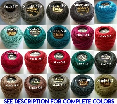 1 ANCHOR Pearl Cotton 8 Crochet Embroidery Thread Ball 1 Flat/Free Postage on 10 8