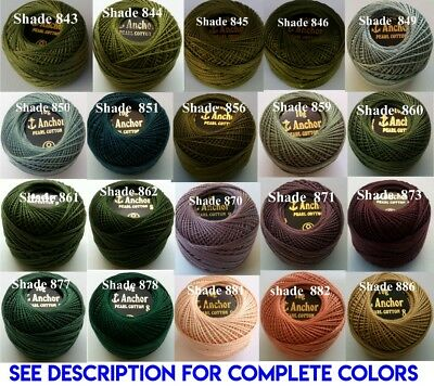 1 ANCHOR Pearl Cotton 8 Crochet Embroidery Thread Ball 1 Flat/Free Postage on 10 9