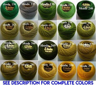 1 ANCHOR Pearl Cotton 8 Crochet Embroidery Thread Ball 1 Flat/Free Postage on 10 5
