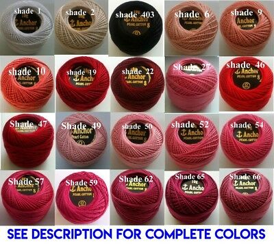 1 ANCHOR Pearl Cotton 8 Crochet Embroidery Thread Ball 1 Flat/Free Postage on 10 2