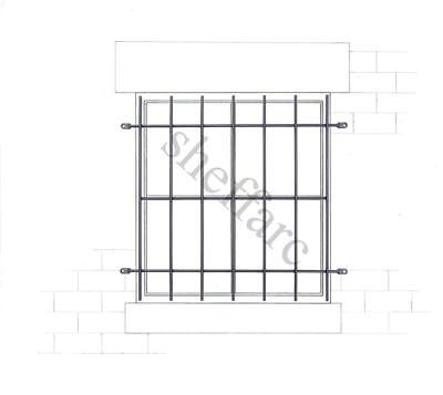 office Security bars // grills for window  home shed shop PLASTIC COATED