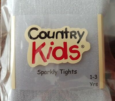 The Little White Company/Country Kids Silver Sparkly Tights (1-3yrs) 3
