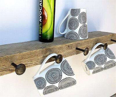 4 HANDMADE LONG ROUND HEAD NAILS Wrought Iron Decor Kitchen Pot Cup Hook Hanger 2
