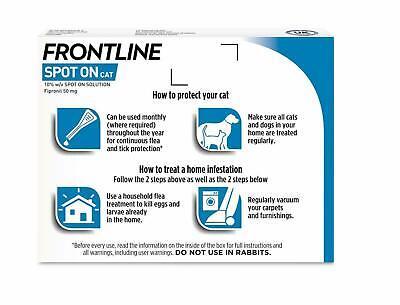 Frontline Spot On Cat Flea Tick Lice 1,3,6 Pipettes AVM-GSL FRONTLINE 6