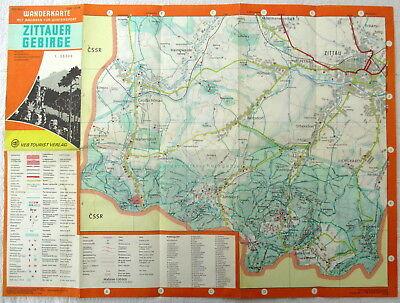 Zittauer Gebirge Wander Karte VEB Tourist Verlag 1979 DDR 1:30 000