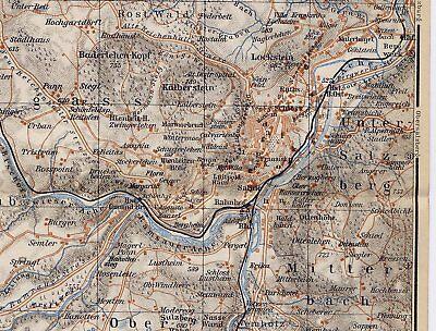 1929 Original Vintage Map Of Berchtesgaden And Vicinity / Bayern Bavaria Germany 2