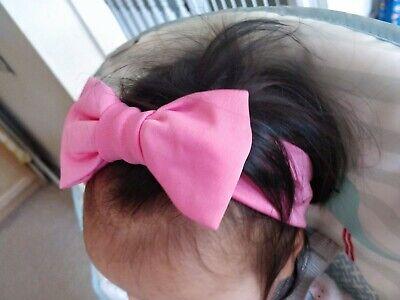Baby Headbands Hairbands Bow Plain Girls Elastic Headdress Toddler UK 2