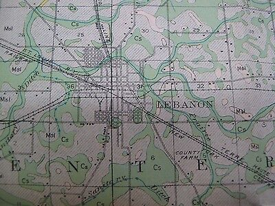 Folded Soil Survey Map Boone County Indiana Lebanon Zionsville Thorntown 1912 2