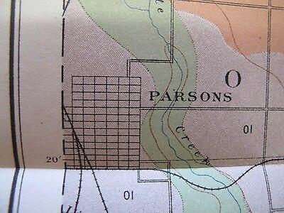 Folded Color Soil Survey Map Parsons Kansas Oswego Chetopa Bartlett McCune 1903 3